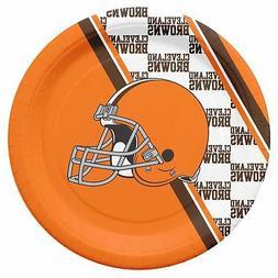 Cleveland Browns Disposable Paper Plates - 20 Pack  NFL Part