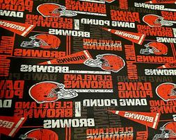 Cleveland Browns DOG POUND Fabric Retro NFL Design, Very Kew