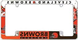 Cleveland Browns EZ View All Over Chrome Frame Metal License