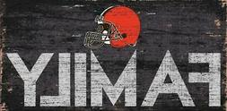 """Cleveland Browns Family 12"""" x 6"""" Wood Sign  NFL Plaque Wall"""