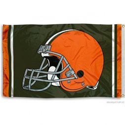 CLEVELAND BROWNS FLAG 3'X5' NFL LOGO BANNER: FAST FREE SHIPP