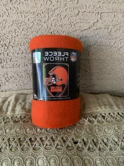 Cleveland Browns Fleece Throw Blanket 40X50 NFL 100% Polyest