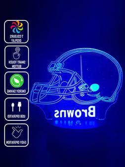CLEVELAND BROWNS FOOTBALL 3D Acrylic LED 7 Colour Night Ligh