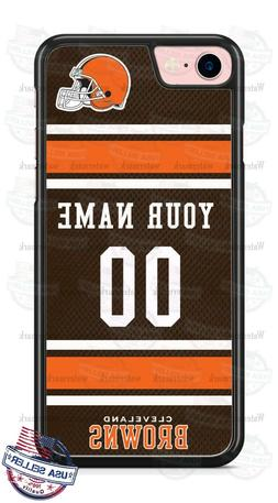 CLEVELAND BROWNS FOOTBALL JERSEY PHONE CASE COVER FITS iPHON