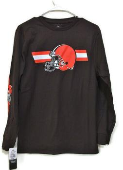 Cleveland Browns Football Long Sleeve T-Shirt Browns Size Sm