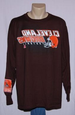 Cleveland Browns Football Long Sleeve T-Shirt Brown LRG - NF