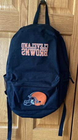 Cleveland Browns Full Size Black Book Bag New Free Shipping