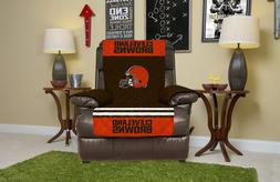 CLEVELAND BROWNS FURNITURE PROTECTOR COVER RECLINER REVERSIB
