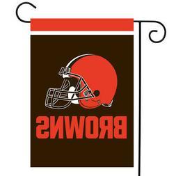 """Cleveland Browns Garden Flag NFL Licensed 12.5"""" x 18"""" Briarw"""