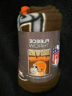 Cleveland Browns Grid Iron Series Fleece Blanket Throw NEW