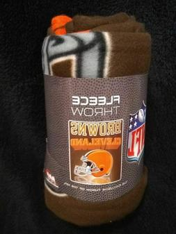 Cleveland Browns Grid Iron Series Fleece Blanket Throw NEW
