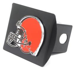 Cleveland Browns  Heavy Duty Black Metal Hitch Cover with 3D