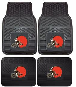 Cleveland Browns Heavy Duty Floor Mats 2 & 4 Pc Sets for Car