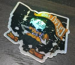Cleveland Browns HOLOGRAPHIC VINYL STICKER - NFL Brownie Lim