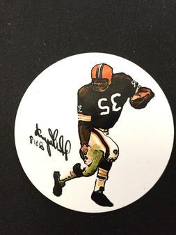 Cleveland Browns Jim Brown magnet-Sports Artwork by John D'A