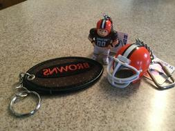 Cleveland Browns keychains 3 pack