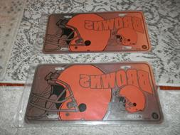 Cleveland Browns License plate lots with key chains new vtg