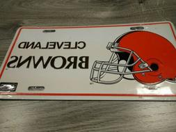 CLEVELAND BROWNS LOGO VINTAGE NOVELTY DECORATIVE LICENSE PLA