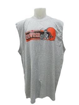 Cleveland Browns Men 3XL 4XL Big & Tall Gray Sleeveless T Sh
