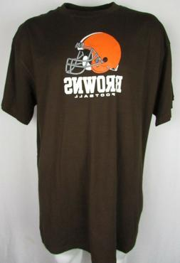 Cleveland Browns Men NFL Team Apparel Big & Tall Brown S/S T