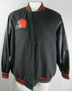 Cleveland Browns NFL Team Apparel Men's Full Zip Varsity Jac