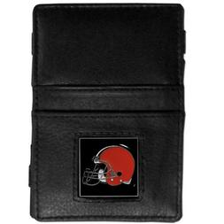 CLEVELAND BROWNS MENS JACOB'S LADDER STYLE LEATHER WALLET