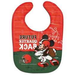 CLEVELAND BROWNS MICKEY MOUSE BABY BIB DISNEY NFL OFFICIALLY