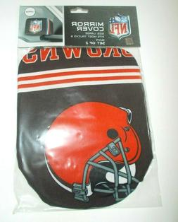 Cleveland Browns Mirror Cover 2 Pack - Large Size, Auto Car