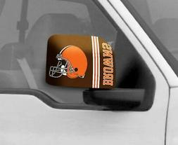 Cleveland Browns Mirror Cover 2 Pack - Large Size  NFL Car A