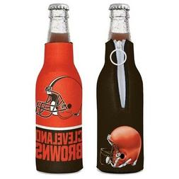 CLEVELAND BROWNS NEOPRENE BOTTLE HOLDER COOZIE COOLER W/ ZIP