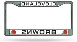 Cleveland Browns NEW DESIGN Metal Chrome License Plate Tag F