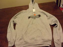 Cleveland Browns NEW mens Large NFL team apparel hooded swea