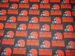 CLEVELAND BROWNS  - NFL - 100% COTTON 1/2 YARD PIECE BRAND N