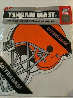 """Cleveland Browns NFL 8"""" Helmet Classic Logo Vinyl Magnet Aut"""