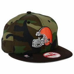 Cleveland Browns New Era NFL Camo 2Tone Snapback Cap Hat Fla