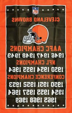 Cleveland Browns NFL Championship Flag 3x5 ft Sports Banner