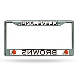 Cleveland Browns NFL Chrome Metal License Plate Frame