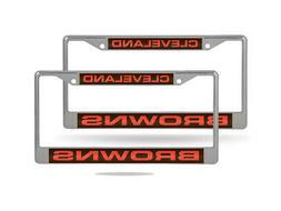 Cleveland Browns NFL Chrome Metal  Laser Cut License Plate F