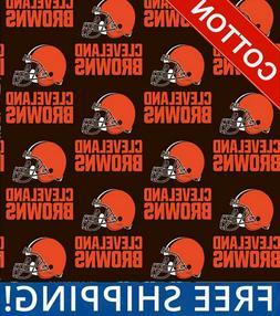 "Cleveland Browns NFL Cotton Fabric - 60"" Wide - Style# 6735"