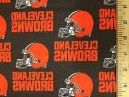 Cleveland Browns NFL Cotton Fabric-$8.99/yard
