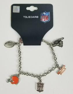 Cleveland Browns NFL Football Charm Bracelet Fashion  Jewelr