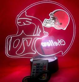 Cleveland Browns NFL Football Light Up Lamp LED with Remote