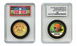 CLEVELAND BROWNS NFL *GREATEST DAD* JFK 24KT Gold Clad Coin
