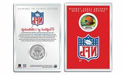 CLEVELAND BROWNS NFL Helmet JFK Half Dollar US Coin w/ NFL D