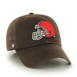 CLEVELAND BROWNS NFL HELMET LOGO FITTED FRANCHISE BROWN HAT/