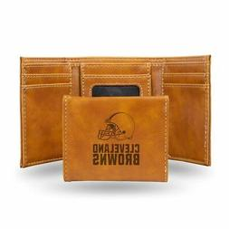 Cleveland Browns NFL Laser Engraved Brown Synthetic Leather