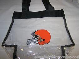 Cleveland Browns NFL Logo Clear Stadium Approved Tote Beach