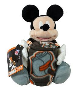 Cleveland Browns NFL Mickey Mouse Throw and Hugger Pillow Se