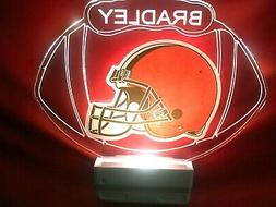 Cleveland Browns NFL Night Light Personalized LED Plug In, D