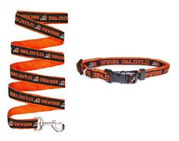 Cleveland Browns NFL Pet SET COLLAR AND LEASH
